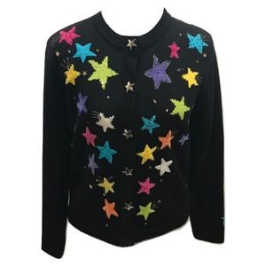 Jack B Quick Size PS Cardigan Sweater Star for sale